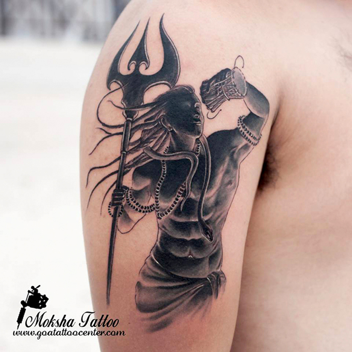 shiva tattoo done by mukesh waghela at moksha tattoo studio goa india goa tattoo center. Black Bedroom Furniture Sets. Home Design Ideas
