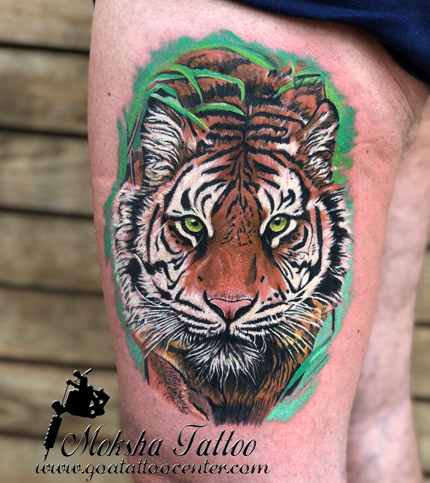 Tiger Tattoo - Done By Mukesh Waghela At Moksha Tattoo Studio Goa India