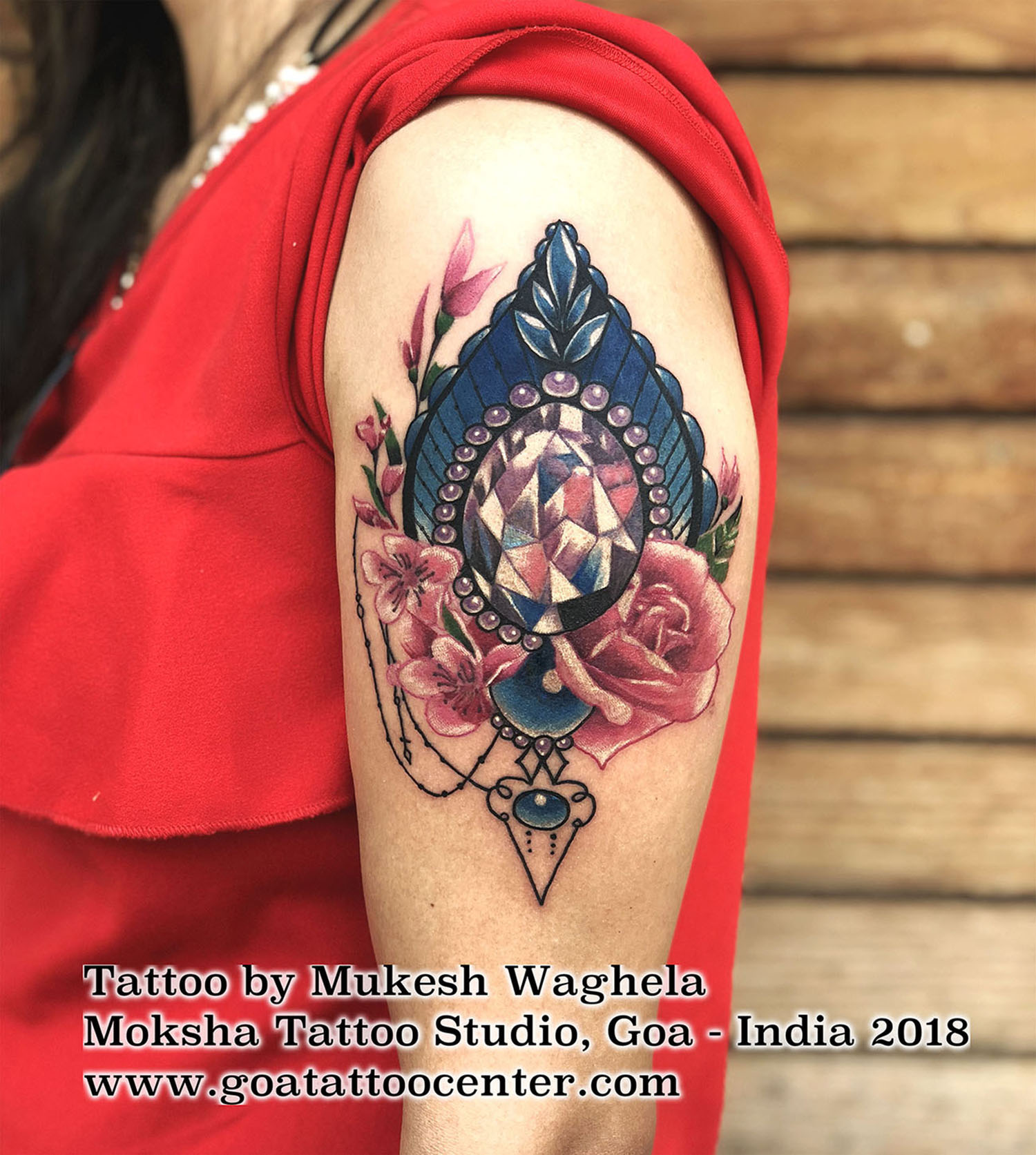Ornamental tattoo done by Mukesh Waghela at Moksha Tattoo Studio Goa India